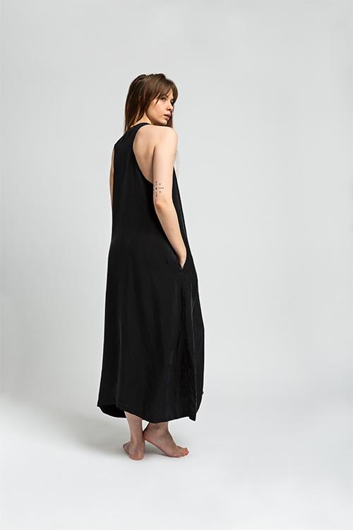 Cupro Dress Black